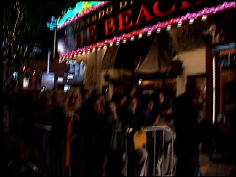 theatre exterior at the premiere of 'the beach' at grauman's chinese theatre in hollywood, california on february 2, 2000. - マン・シアターズ点の映像素材/bロール