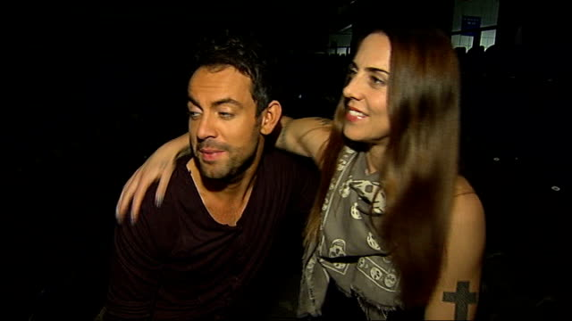 Jesus Christ Superstar opening show in Greenwich Mel C and Ben Forster interview SOT Reporter to camera