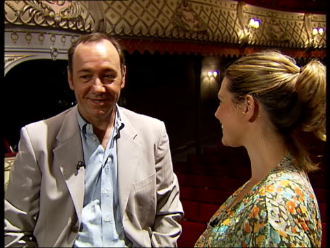 kevin spacey interview england london old vic theatre int kevin spacey interview with london tonight reporter tamzin sylvester sot on new season... - cinderella stock videos & royalty-free footage