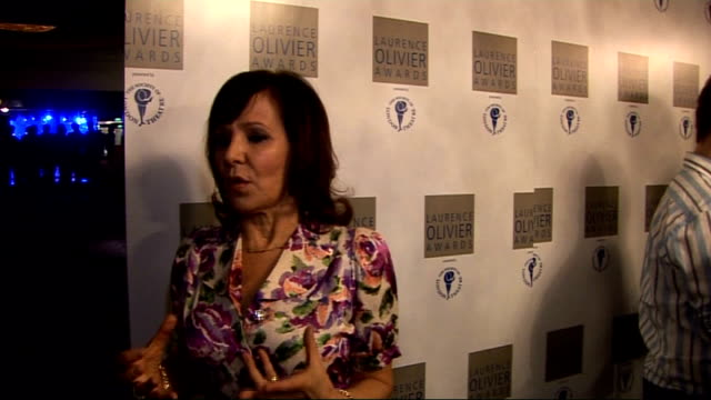 Laurence Olivier Awards 2010 Arlene Phillips interview SOT Stephen Mears / loves doing 'So You Think You Can Dance' / reciving letters from the army
