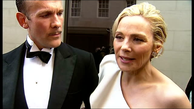 laurence olivier awards 2010 england london grosvenor hotel ext kim cattrall and simon paisley day interview sot celebrating excellence in theatre... - maureen lipman stock videos and b-roll footage