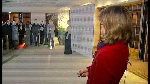 Laurence Olivier Awards 2010 ENGLAND London Grosvenor Hotel Reporter to camera