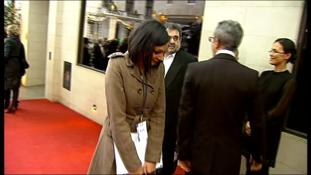 laurence olivier awards 2010 gvs of red carpet arrivals / iwan rheon / ben elton melanie chisholm talking to reporters and interview sot blown away... - ben elton stock videos and b-roll footage