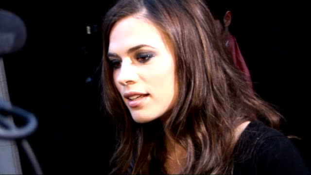 Laurence Olivier Awards 2010 Hayley Atwell talking to reporters and SOT Feel very privileged and grateful to be here / feels accepted into theatre...