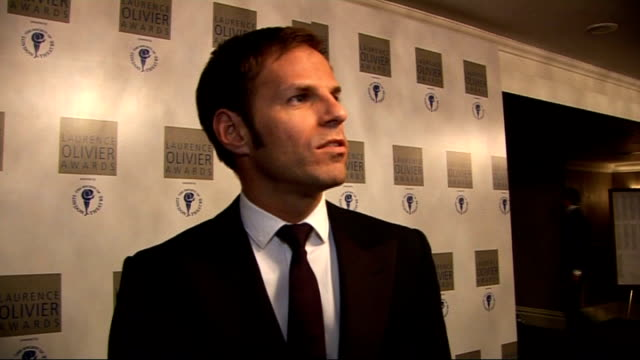 Laurence Olivier Awards 2010 INT Ben Richards interview SOT Stephen Mears winning award / Olivier awards is Oscars of theatreland / currently working...