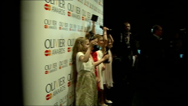 Laurence Olivier Awards 2012 'Matilda the Musical' wins seven awards ENGLAND London PHOTOGRAPHY** Various of Cleo Demetriou Kerry Ingram Sophia Kelly...