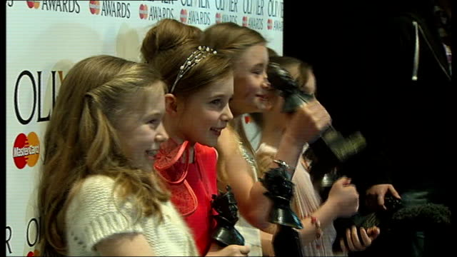 Laurence Olivier Awards 2012 'Matilda the Musical' wins seven awards London Royal Opera House PHOTOGRAPHY** Side view Kiely Worthington Cox Ingram...