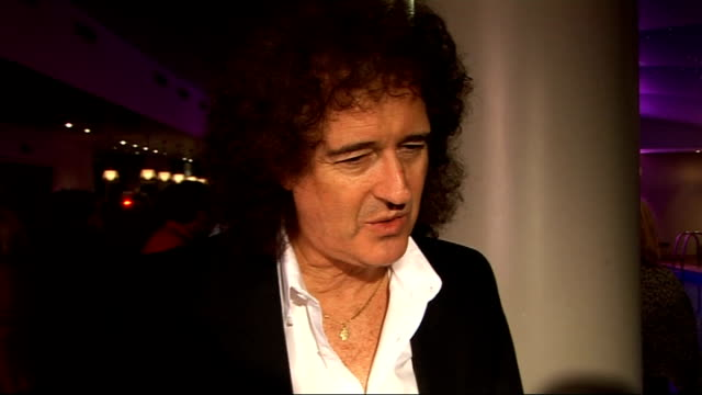 Laurence Olivier Awards nominees luncheon Brian May interview SOT On the success of We Will Rock You and getting recognition after so many years / On...