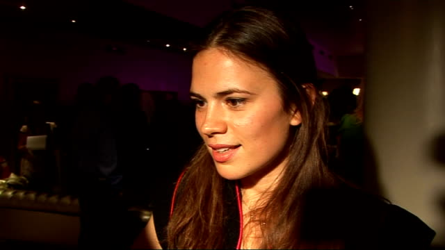 Laurence Olivier Awards nominees luncheon Hayley Atwell interview SOT On being nominated for a Laurence Olivier award / On not feeling like a rival...