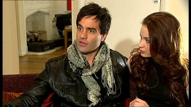 'love never dies' musical interviews with ramin karimloo and sierra boggess ramin karimloo interview sot on his character of the phantom in love... - andrew lloyd webber stock videos and b-roll footage