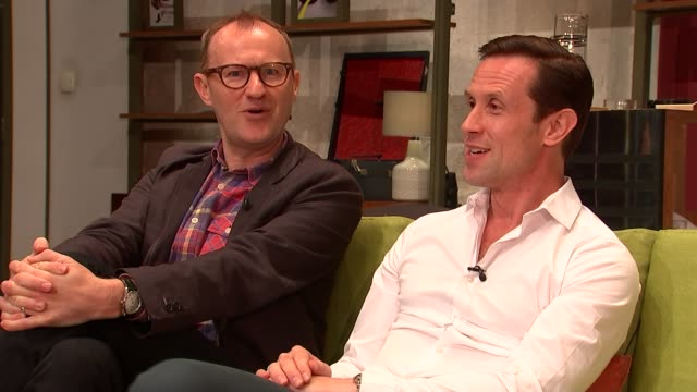 Mark Gatiss stars in revival of The Boys in the Band Gatiss interview SOT Gatiss and Hallard sat with reporter Hallard interview SOT Gatiss and...