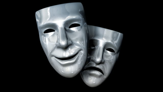 theatre masks - tragedy mask stock videos & royalty-free footage