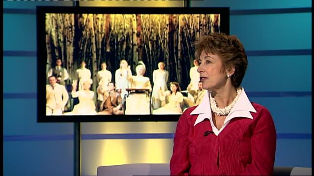 maureen lipman interview england london gir int maureen lipman studio interview sot discusses appearance in a little night music at the garrick... - maureen lipman stock videos & royalty-free footage