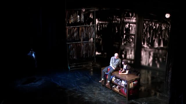 'mcqueen' play performance extracts and interviews england london int stephen wight performing scene on stage with dianna agron from 'mcqueen' /... - dianna agron stock videos and b-roll footage