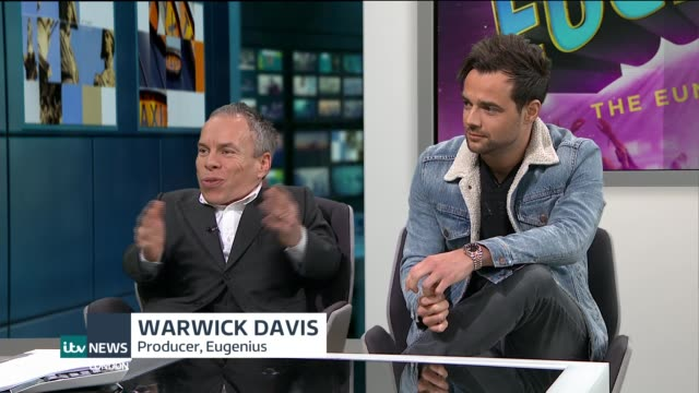 New musical 'Eugenius' set to open in London ENGLAND London GIR INT Warwick Davis and Ben Adams LIVE STUDIO interview SOT