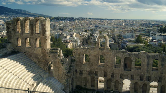 theatre of dionysus in greece - the erechtheion stock videos & royalty-free footage