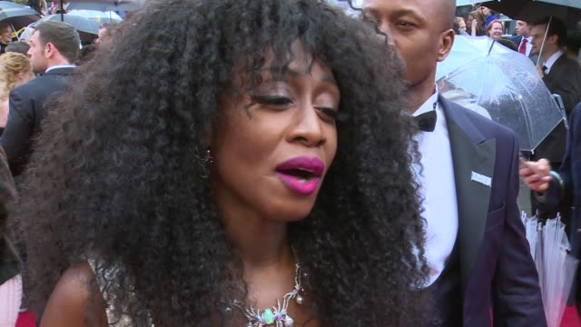 Olivier Awards 2018 red carpet and winners room Beverley Knight interview SOT Andrew Scott interview SOT Jason Donovan interview SOT GVs Ronnie Wood...