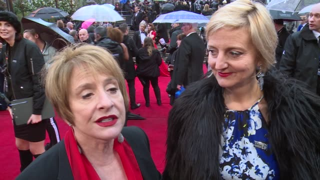 Olivier Awards 2018 red carpet and winners room Patti LuPone and Marianne Elliott interview SOT Pearl Mackie and Andrea Simon interview SOT Imelda...