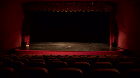 theatre, opera, concert, conference center - stage performance space stock videos & royalty-free footage