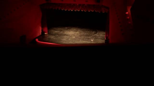 theater, oper, konzert, konferenz-zentrum - kulisse bühne stock-videos und b-roll-filmmaterial