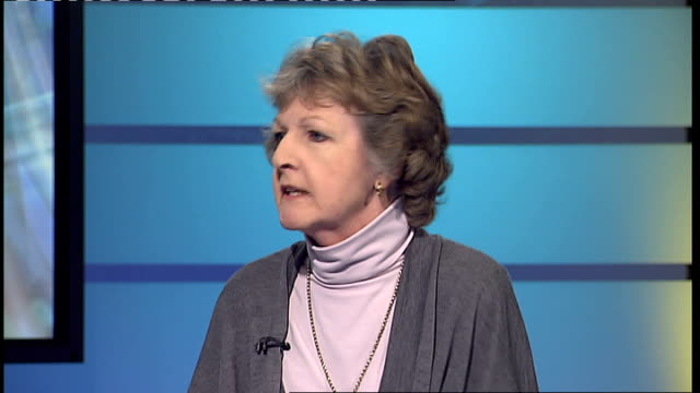 penelope keith interview; penelope keith interview sot - penelope keith stock-videos und b-roll-filmmaterial