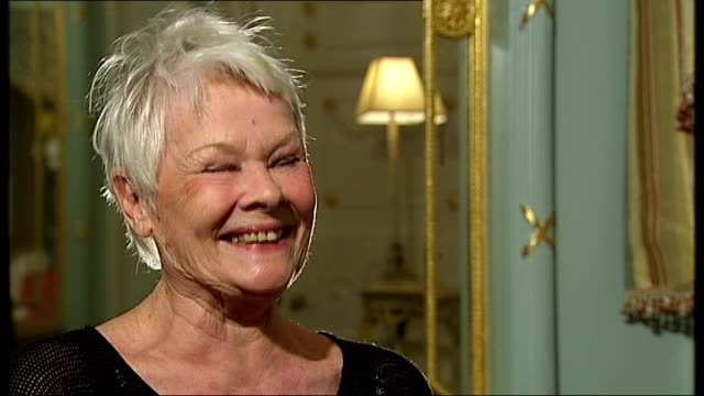 'peter and alice': judi dench interview; dame judi dench interview sot - discusses acting and ageing process - take memory supplements/ being a quaker - ジュディ・デンチ点の映像素材/bロール