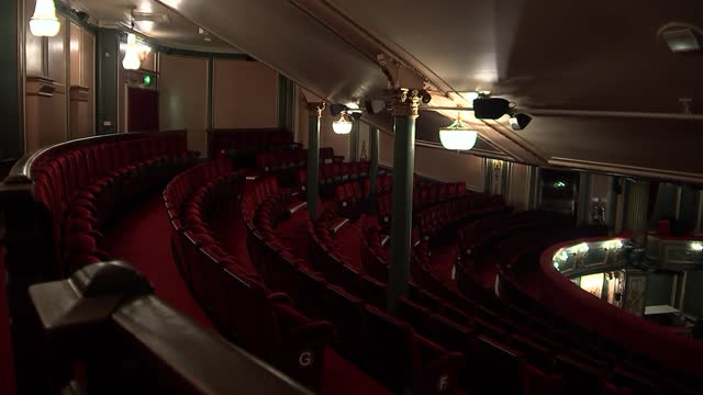 'phantom of the opera': actor lucy st louis interview; england: london: her majesty's theatre: int gvs theatre stalls in empty auditorium - seats,... - auditorium stock videos & royalty-free footage