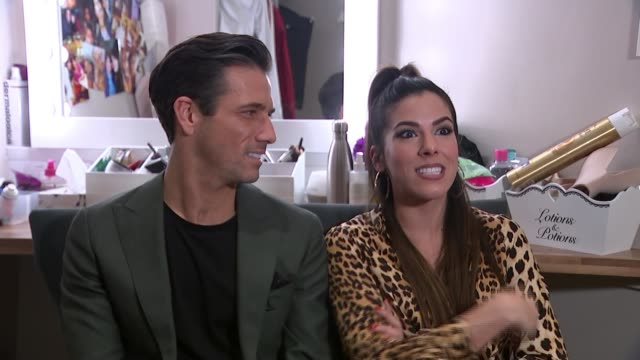 'pretty woman' preview; england: int aimie atkinson and danny mac set up shots with reporter aimie atkinson interview sot danny mac interview sot - beautiful people stock videos & royalty-free footage