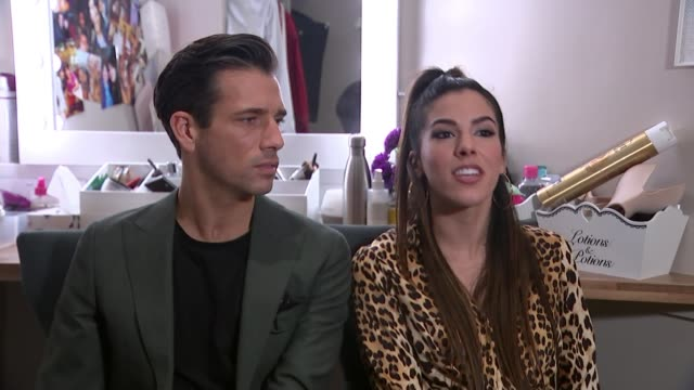 'pretty woman' preview; england: int danny mac and aimie atkinson interview sot - beautiful people stock videos & royalty-free footage