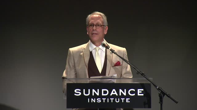 speech theatre program artistic director philip himberg talks about sally field's connection to sundance theatre program and introduces her at 2013... - sally field stock videos & royalty-free footage