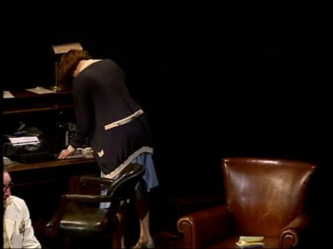 romola garai makes west end debut calico actress romola garai rehearsing for play 'calico' with male actor tonight - romola garai stock videos & royalty-free footage