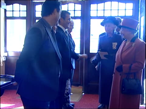 sussex brighton theatre royal int queen elizabeth ii and prince philip duke of edinburgh along greeting theatre staff and actors - theatre royal stock videos and b-roll footage