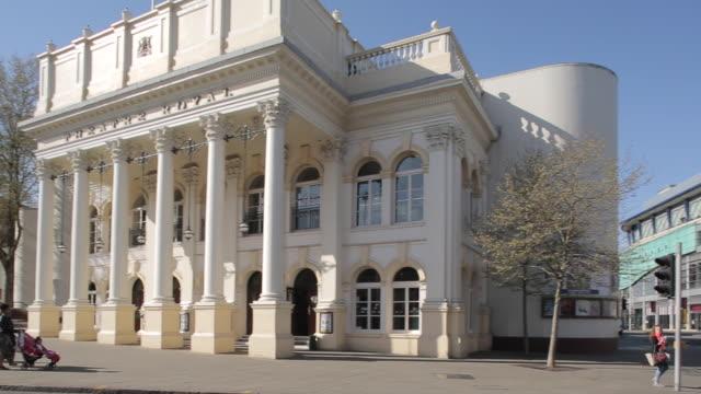 theatre royal & cornerhouse, nottingham, england, uk, europe - theatre royal stock videos and b-roll footage