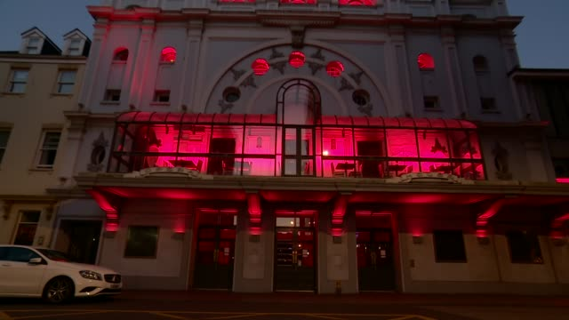 'see it safely' aims to help get industry up and running again england plymouth ext various exterior shots of theatre royal in plymouth - pointing stock videos & royalty-free footage