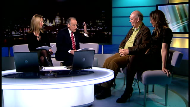 Sir Alan Ayckbourn and Janie Dee interview ENGLAND London GIR INT Sir Alan Ayckbourn and Janie Dee discuss West End revival of Ayckbourn play 'Woman...