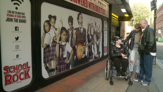 sir andrew lloyd webber invites 12yearold accessibility campaigner to meet school of rock cast uk london drury lane gillian lynne theatre lora stacey... - andrew lloyd webber stock videos and b-roll footage