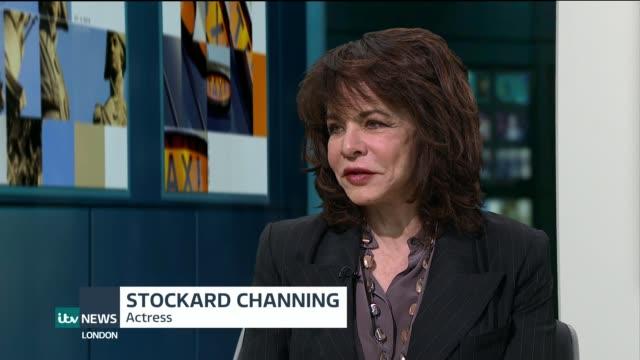 Stockard Channing interview ENGLAND London GIR INT Stockard Channing STUDIO interview SOT