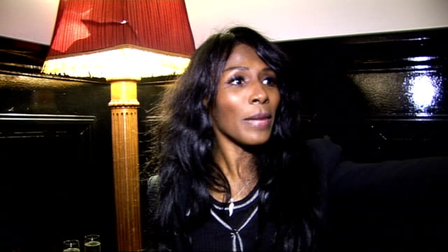 'sweet charity' opening night celebrity interviews sinitta interview sot loved the show / tamzin outhwaite and the cast / simon cowell's wedding... - insanity stock videos & royalty-free footage