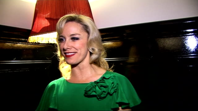 'sweet charity' opening night celebrity interviews tamzin outhwaite and mark umbers for photocall / outhwaite posing for photocall tamzin outhwaite... - photo call stock videos & royalty-free footage