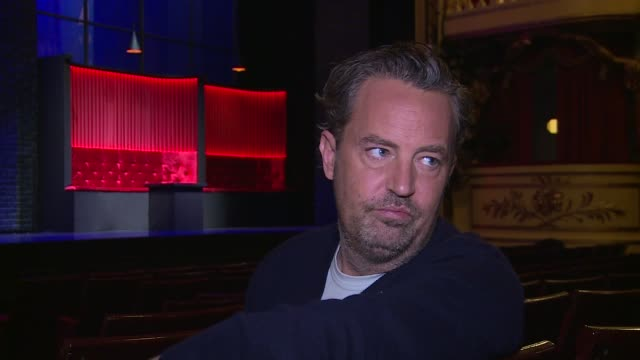 'The End of Longing' Matthew Perry interview ENGLAND London Playhouse Theatre INT Matthew Perry interview SOT