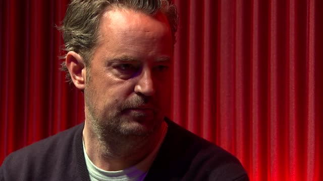 'the end of longing' matthew perry interview england london playhouse theatre int matthew perry interview sot - playhouse stock videos and b-roll footage