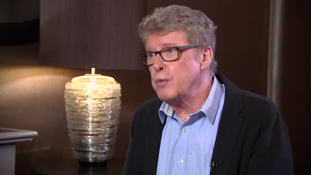 'the go-between': michael crawford intertview; michael crawford interview sot various shots reporter chatting to crawford and taylor - michael crawford stock videos & royalty-free footage