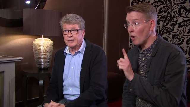 'the go-between': michael crawford intertview; richard taylor interview sot - michael crawford stock videos & royalty-free footage