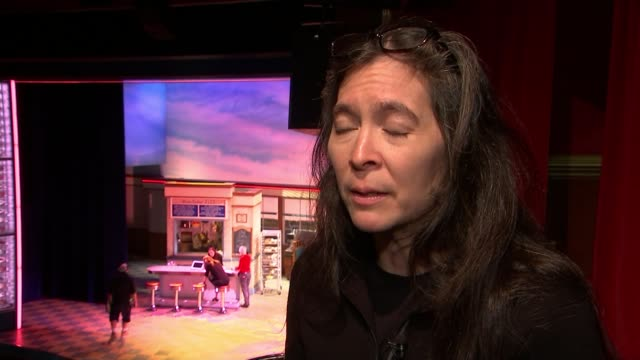 'waitress' musical preparing to open in west end england london adelphi theatre int diane paulus interview sot - adelphi theatre stock videos & royalty-free footage