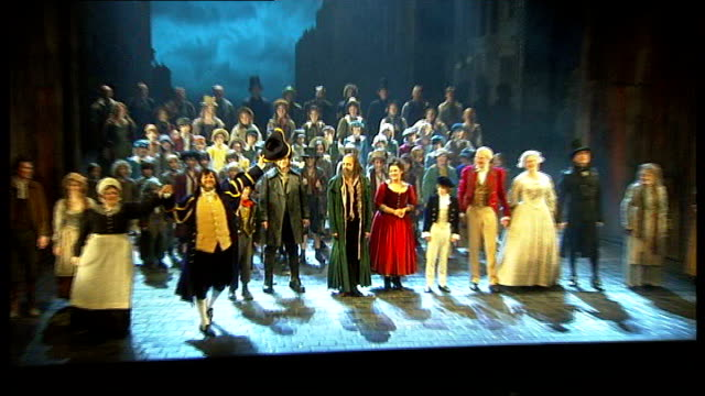 world premiere of lionel bart's 'quasimodo' at king's head islington theatre royal int rowan atkinson and jodie prenger taking curtain call with... - theatre royal stock videos and b-roll footage