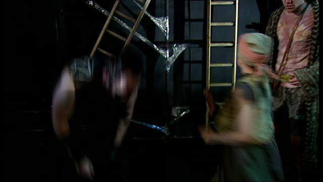 world premiere of lionel bart's 'quasimodo' at king's head islington rehearsal performance of lionel bart's 'quasimodo' musical - ライオネル・バート点の映像素材/bロール