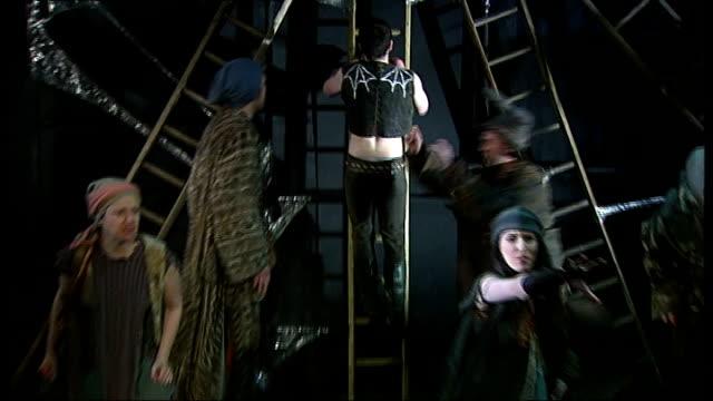 world premiere of lionel bart's 'quasimodo' at king's head islington 'qasimodo' rehearsal peformance - ライオネル・バート点の映像素材/bロール