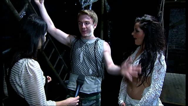 world premiere of lionel bart's 'quasimodo' at king's head islington stevie webb and zoe george interview sot - ライオネル・バート点の映像素材/bロール