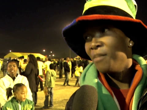 their last match against france to redeem themselves in the eyes of their adoring fans. images and soundbites from soweto. - fußballweltmeisterschaft 2010 stock-videos und b-roll-filmmaterial