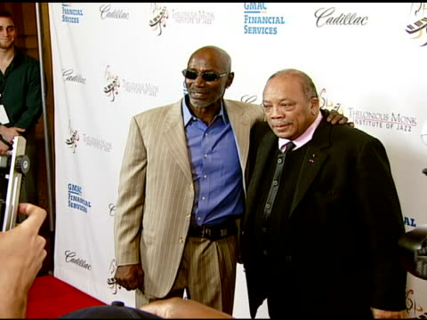 thelonious monk jr and quincy jones at the the thelonious monk institute of jazz and the recording academy® los angeles chapter partner to honor jazz... - herbie hancock stock-videos und b-roll-filmmaterial